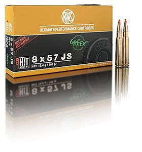 RWS centerfire rifle cartridges in calibre 8 x 57 JS