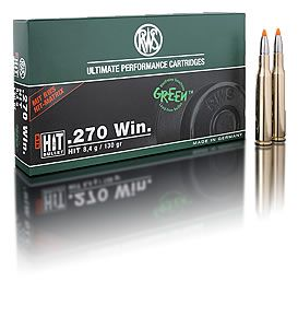 RWS centerfire rifle cartridges in calibre.270 Win.