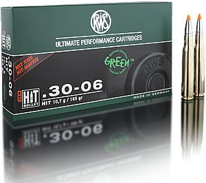 RWS centerfire rifle cartridges in calibre.30-06